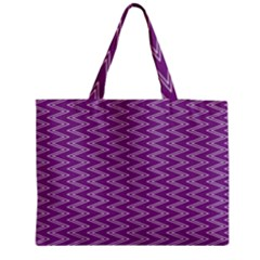 Zig Zag Background Purple Medium Tote Bag by BangZart