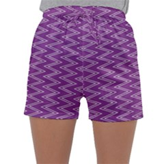 Zig Zag Background Purple Sleepwear Shorts
