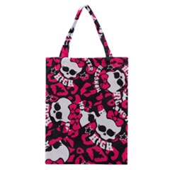Mattel Monster Pattern Classic Tote Bag by BangZart