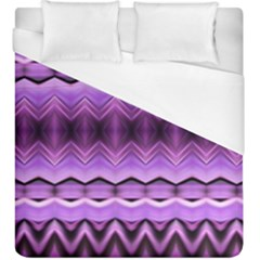 Purple Pink Zig Zag Pattern Duvet Cover (king Size) by BangZart