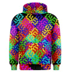 3d Fsm Tessellation Pattern Men s Zipper Hoodie by BangZart