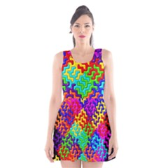 3d Fsm Tessellation Pattern Scoop Neck Skater Dress