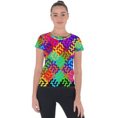 3d Fsm Tessellation Pattern Short Sleeve Sports Top  by BangZart