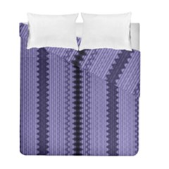 Zig Zag Repeat Pattern Duvet Cover Double Side (full/ Double Size) by BangZart