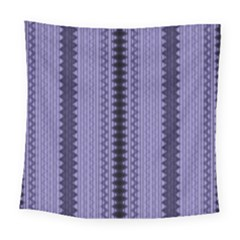 Zig Zag Repeat Pattern Square Tapestry (large) by BangZart