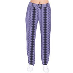 Zig Zag Repeat Pattern Drawstring Pants