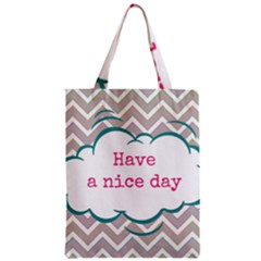 Have A Nice Day Zipper Classic Tote Bag by BangZart