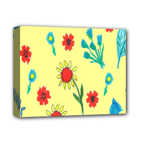 Flowers Fabric Design Deluxe Canvas 14  X 11  by BangZart