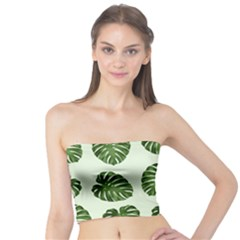 Leaf Pattern Seamless Background Tube Top by BangZart