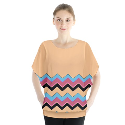 Chevrons Patterns Colorful Stripes Blouse by BangZart