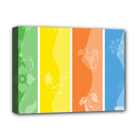 Floral Colorful Seasonal Banners Deluxe Canvas 16  X 12   by BangZart