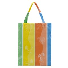 Floral Colorful Seasonal Banners Classic Tote Bag by BangZart