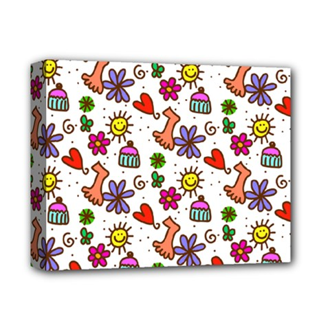 Cute Doodle Wallpaper Pattern Deluxe Canvas 14  X 11  by BangZart