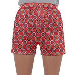 Floral Seamless Pattern Vector Sleepwear Shorts