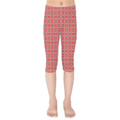Floral Seamless Pattern Vector Kids  Capri Leggings  by BangZart