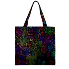 Grunge Rose Background Pattern Grocery Tote Bag by BangZart