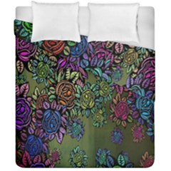 Grunge Rose Background Pattern Duvet Cover Double Side (california King Size)