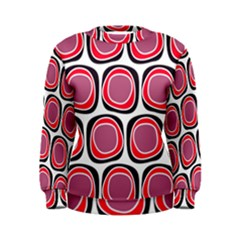 Wheel Stones Pink Pattern Abstract Background Women s Sweatshirt by BangZart