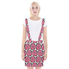 Wheel Stones Pink Pattern Abstract Background Braces Suspender Skirt