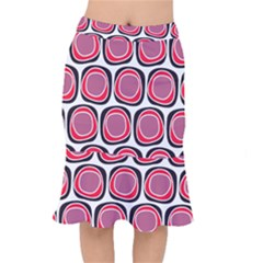 Wheel Stones Pink Pattern Abstract Background Mermaid Skirt