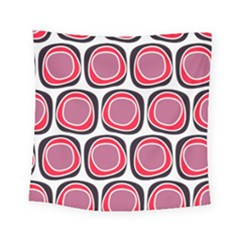 Wheel Stones Pink Pattern Abstract Background Square Tapestry (small) by BangZart
