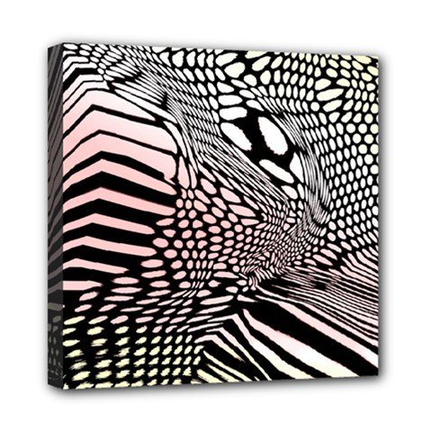 Abstract Fauna Pattern When Zebra And Giraffe Melt Together Mini Canvas 8  X 8  by BangZart