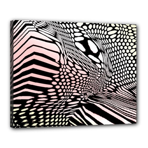 Abstract Fauna Pattern When Zebra And Giraffe Melt Together Canvas 20  X 16  by BangZart