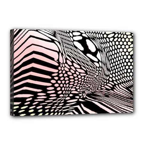 Abstract Fauna Pattern When Zebra And Giraffe Melt Together Canvas 18  X 12  by BangZart