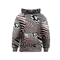 Abstract Fauna Pattern When Zebra And Giraffe Melt Together Kids  Pullover Hoodie by BangZart