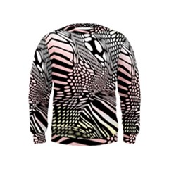 Abstract Fauna Pattern When Zebra And Giraffe Melt Together Kids  Sweatshirt by BangZart
