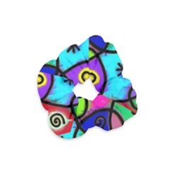 Digitally Painted Colourful Abstract Whimsical Shape Pattern Velvet Scrunchie by BangZart