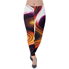 Colourful Abstract Background Design Velvet Leggings