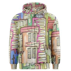 A Village Drawn In A Doodle Style Men s Zipper Hoodie by BangZart