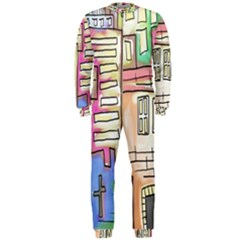 A Village Drawn In A Doodle Style Onepiece Jumpsuit (men)  by BangZart
