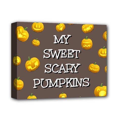 Hallowen My Sweet Scary Pumkins Deluxe Canvas 14  X 11  by BangZart