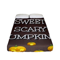 Hallowen My Sweet Scary Pumkins Fitted Sheet (full/ Double Size) by BangZart
