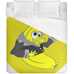 Funny Cartoon Punk Banana Illustration Duvet Cover (california King Size) by BangZart