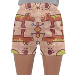Pet Dog Design  Tileable Doodle Dog Art Sleepwear Shorts
