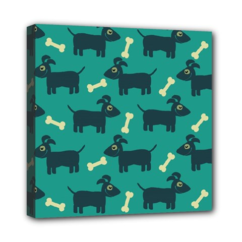 Happy Dogs Animals Pattern Mini Canvas 8  X 8  by BangZart