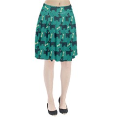 Happy Dogs Animals Pattern Pleated Skirt by BangZart