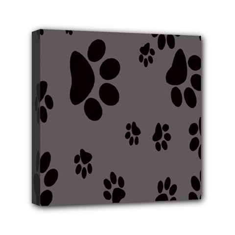 Dog Foodprint Paw Prints Seamless Background And Pattern Mini Canvas 6  X 6  by BangZart