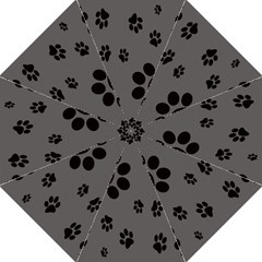Dog Foodprint Paw Prints Seamless Background And Pattern Straight Umbrellas by BangZart