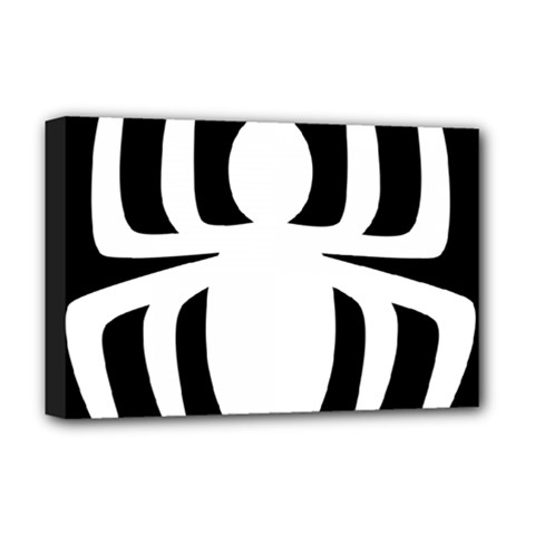 White Spider Deluxe Canvas 18  X 12   by BangZart