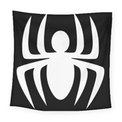 White Spider Square Tapestry (large) by BangZart