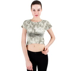 Wall Rock Pattern Structure Dirty Crew Neck Crop Top by BangZart