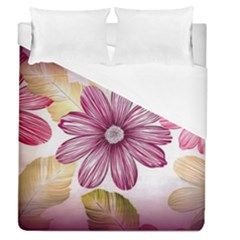 Flower Print Fabric Pattern Texture Duvet Cover (queen Size) by BangZart