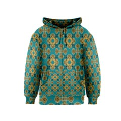 Vintage Pattern Unique Elegant Kids  Zipper Hoodie