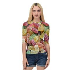 Jelly Beans Candy Sour Sweet Quarter Sleeve Tee by BangZart