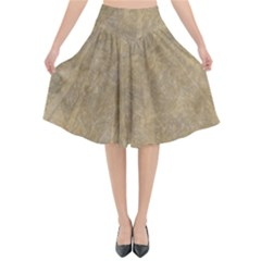 Abstract Forest Trees Age Aging Flared Midi Skirt