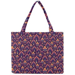 Abstract Background Floral Pattern Mini Tote Bag by BangZart